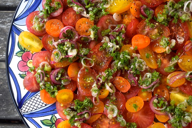 The Only Tomato Salad Recipe You Will Ever Need | www.rachelphipps.com @rachelphipps