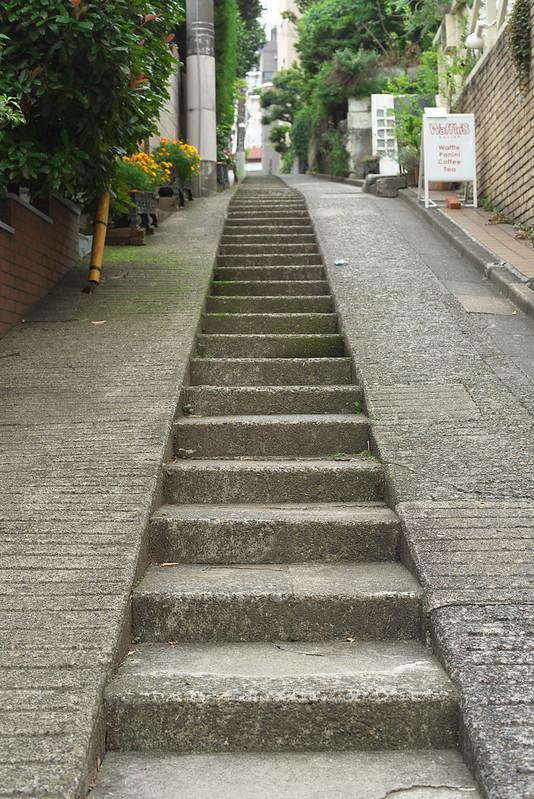 東京路地裏散歩 代官山の階段 2016年7月17日
