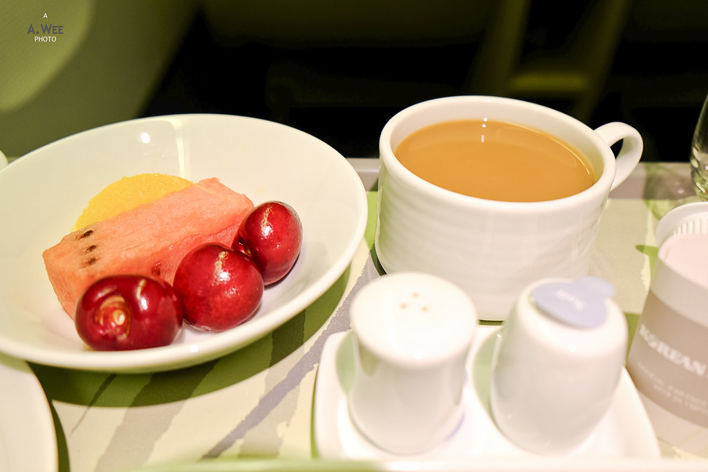 Seasonal fruit and coffee