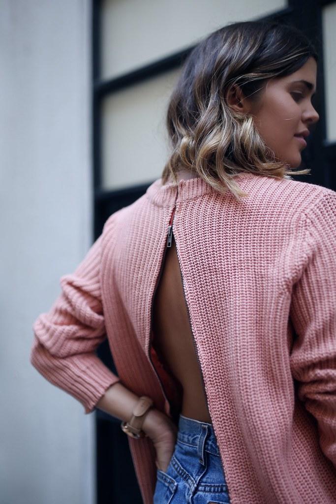DIY Zip Back Knit