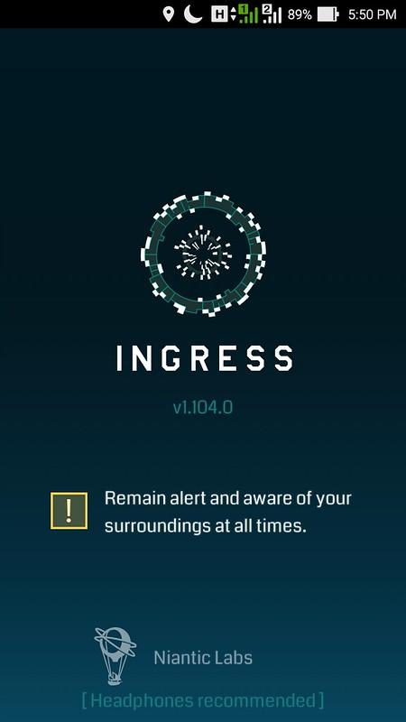 Ingress loading screen