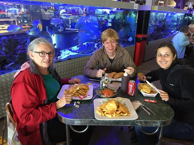 Fish and Chips mit Margret, Micha und Joanne