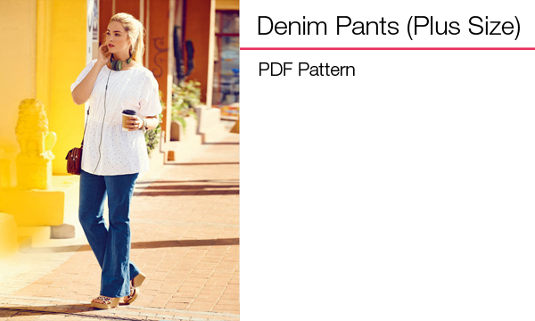 Plus Size Denim Pants