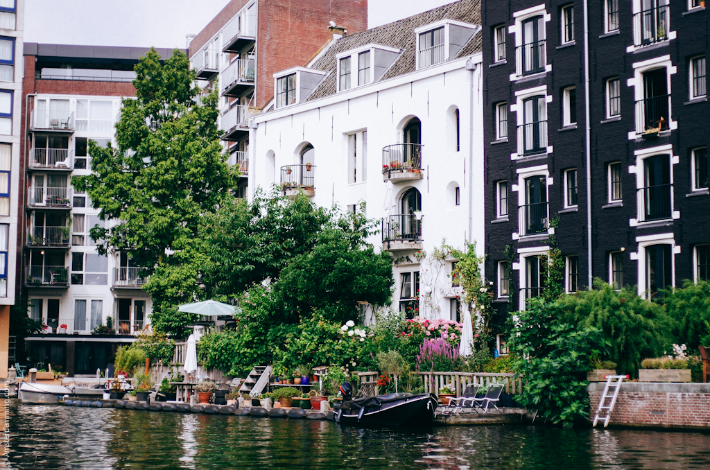 Amsterdam, As Seen from Water Level