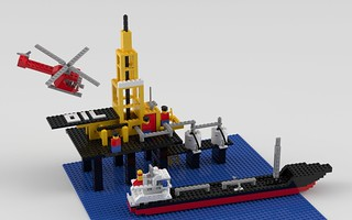 377 Offshore Rig with Fuel Tanker
