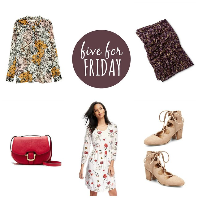 five for friday, fall floral fun; Style On Target blog