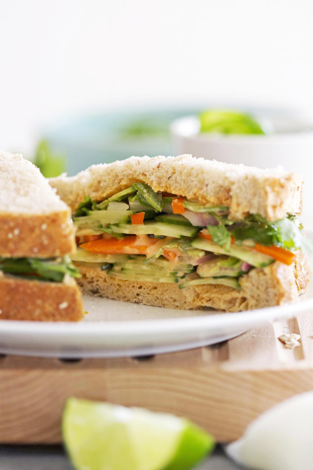 The Best Hot Vegetarian Sandwiches Recipes on Yummly | Leftover (vegan) Turkey Sandwiches, Grilled Cheese Sandwich With Garlic Parmesan Crust, Brown Butter Fried Nutella Banana Croissant Sandwiches.