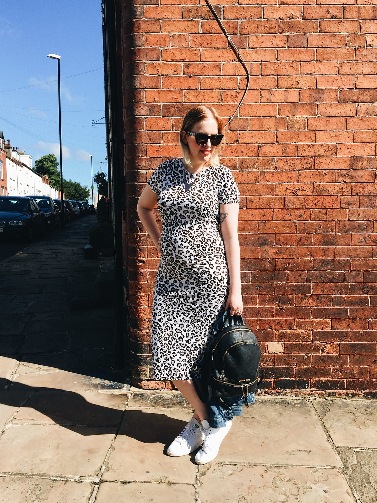 body con leopard print maternity dress