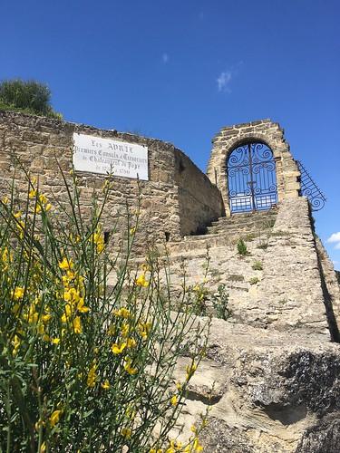 VIneyard gate above Châteauneuf-du-Pape