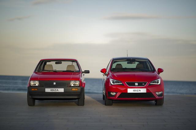 SEAT Ibiza I и SEAT Ibiza IV
