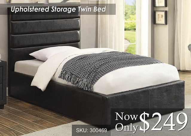 Upholstered Storage Twin Bed