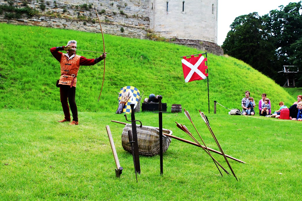 Archery Demonstration at Warwick Castle, England.