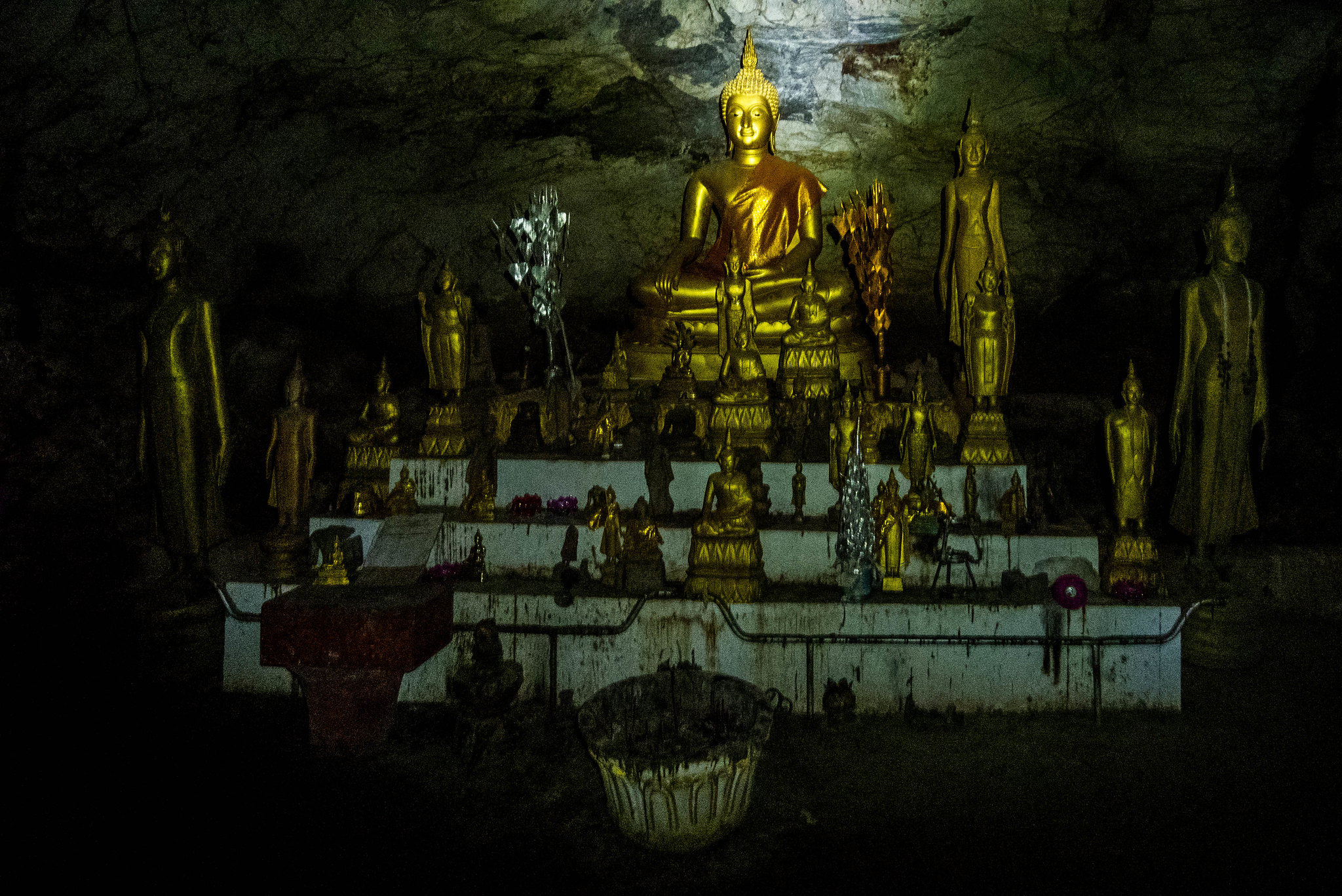 Monument inside Pak Ou Caves