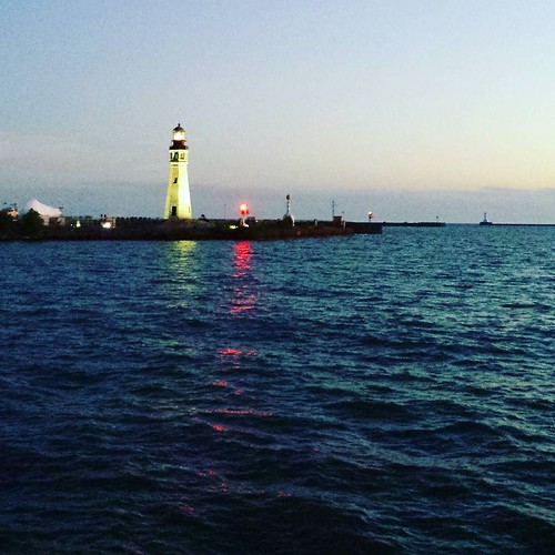 The lighthouse, after dark #buffalo #lighthouse