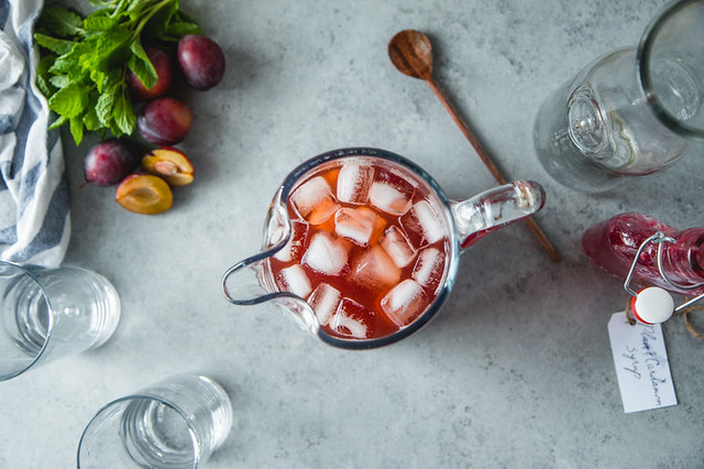 Plum and Cardamom Iced Tea