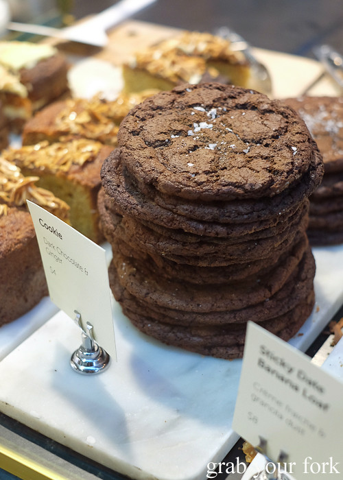 Dark chocolate and ginger cookies at Rising Sun Workshop, Newtown