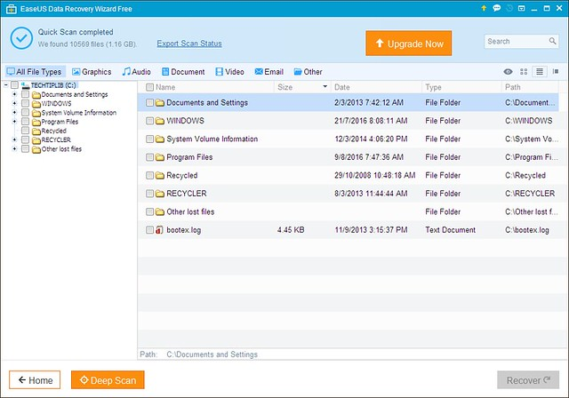 EaseUS Data Recovery Wizard Free 3