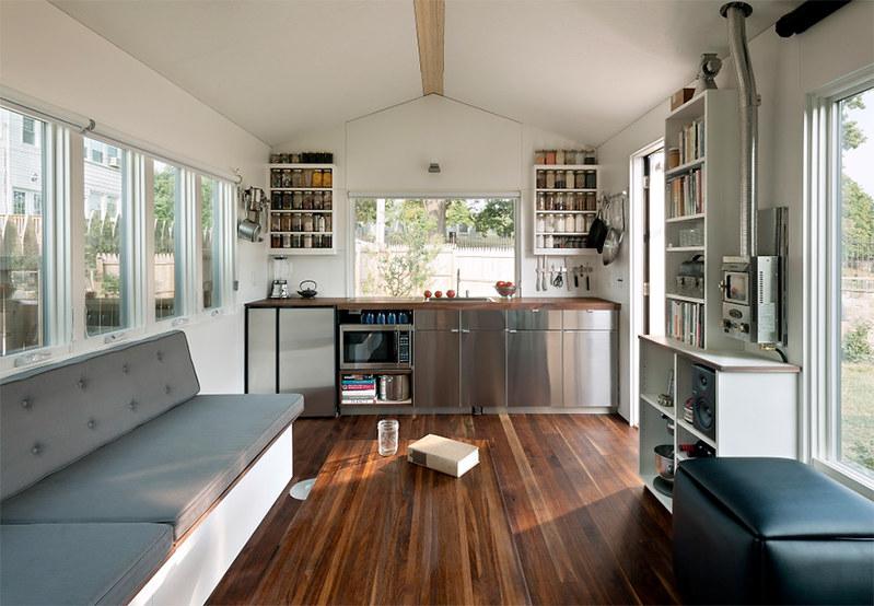 Интерьер компактного дома в США. Проект Foundry Architects