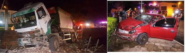 acidente caminhão de lixo I