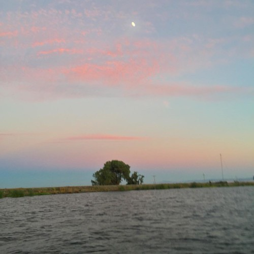 #moon and #sunset