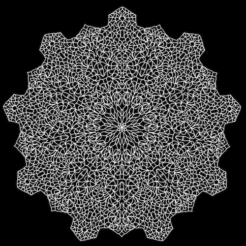 Mandala created in iOrnament