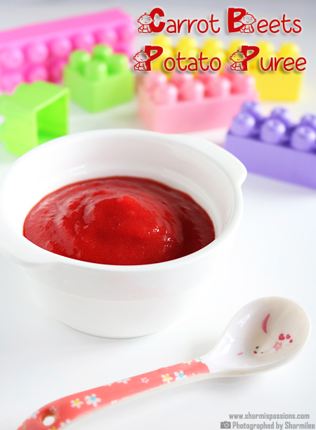 Carrot Potato Beetroot Puree For Babies Indian Baby Food