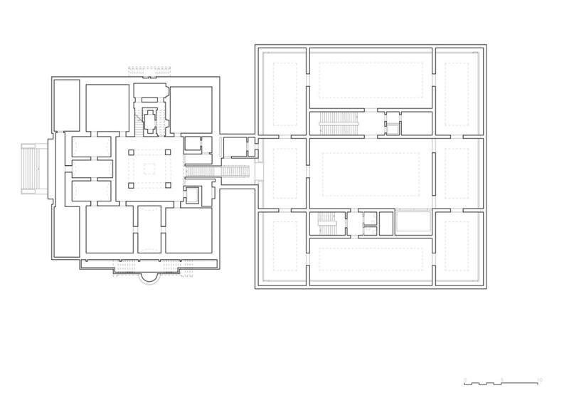 План Музея изобразительного искусства в Швейцарии от Barozzi Veiga