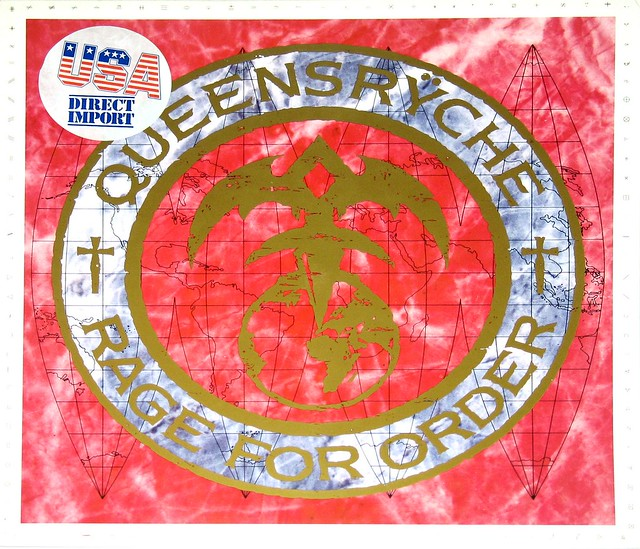 "Queensryche Rage For Order USA Import 12"" vinyl LP album"