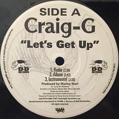 CRAIG G:LET'S GET UP(LABEL SIDE-A)