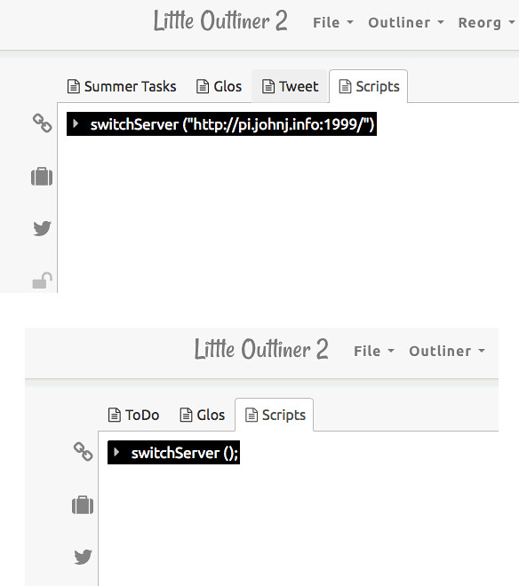 Little outliner 2-switch-servers