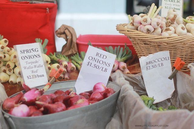 San Francisco Ferry Building Farmers Market spring onions by little luxury list