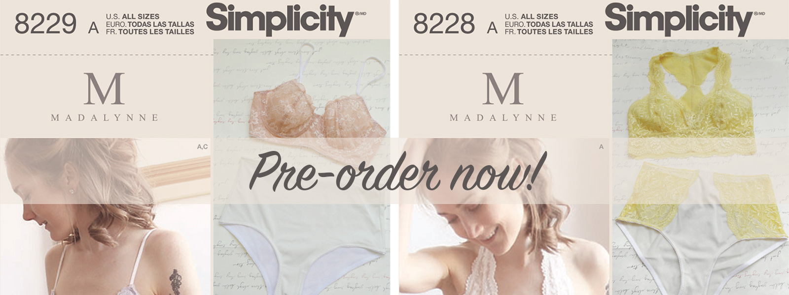 preorder-simplicity x madalynne bra patterns