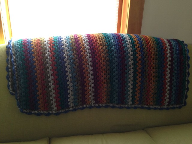 granny stripe couch