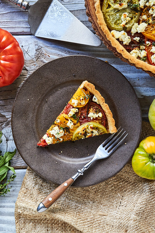 Grain-free French Heirloom Tomato Tart {Paleo-friendly}