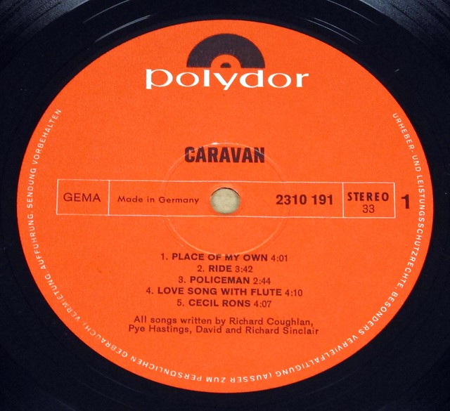 "CARAVAN S/T SELF-TITLED 12"" LP VINYL"