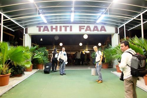 llegada a Tahiti