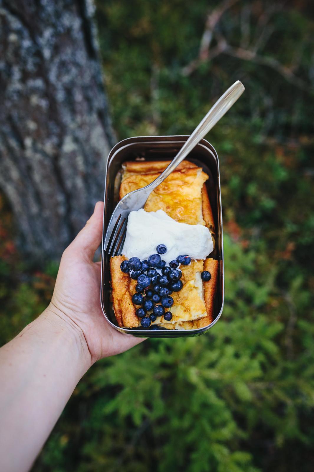 Glutenfri ugnspannka med grädde, honung & blåbär <3 - Evelinas Ekologiska