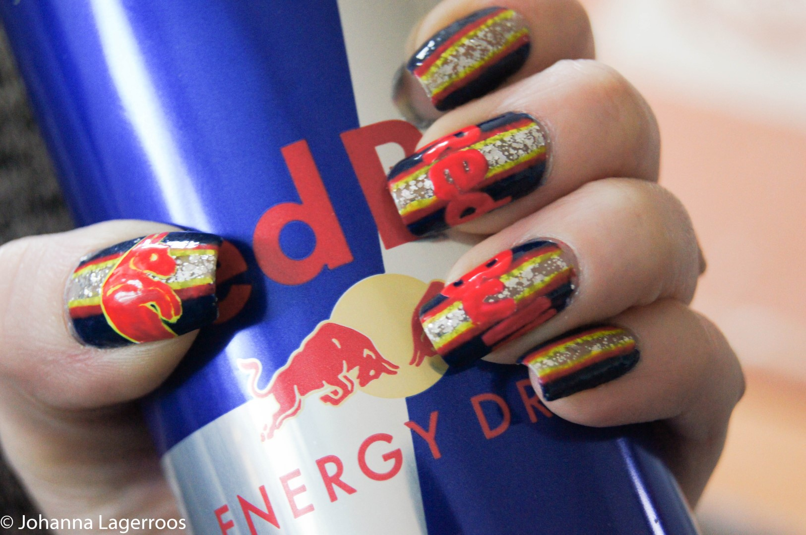 Red Bull nails