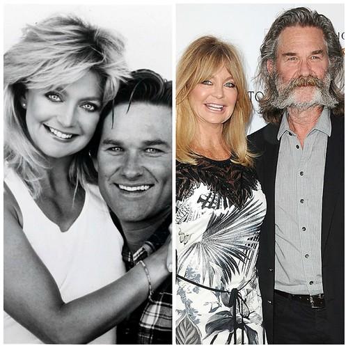Фото тогда и сейчас: Голди Хоун и Курт Рассел