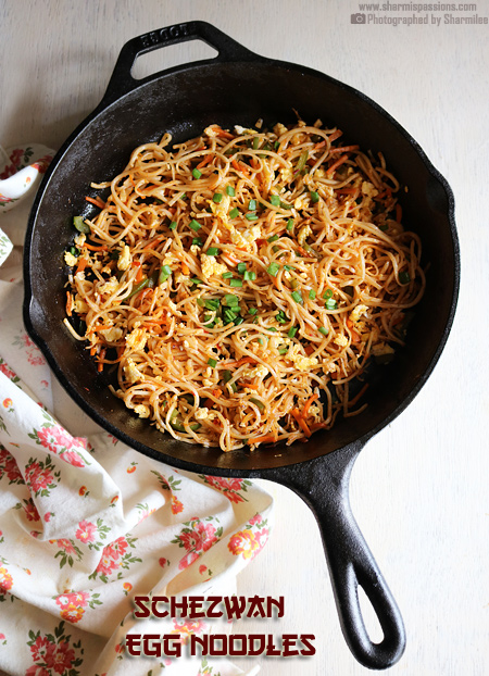 Schezwan Egg Noodles Recipe