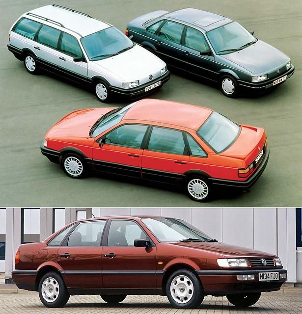 Сравнение Volkswagen Passat B3 и Passat B4