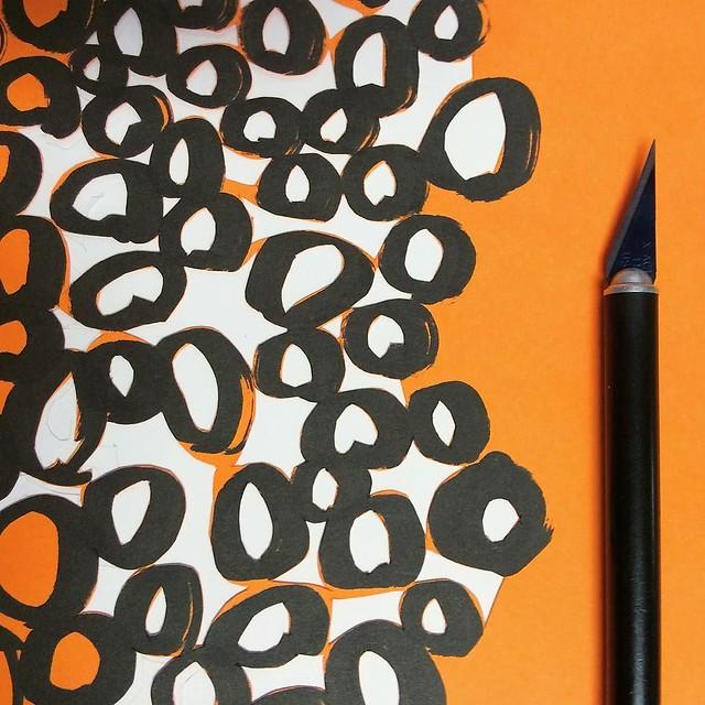 We'll see how this paper stencil goes #gelatinprinting #gelliplate #gelliarts