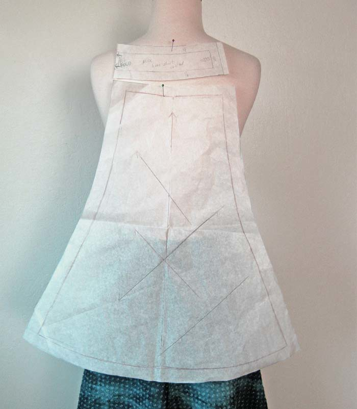 pattern piece bias skirt