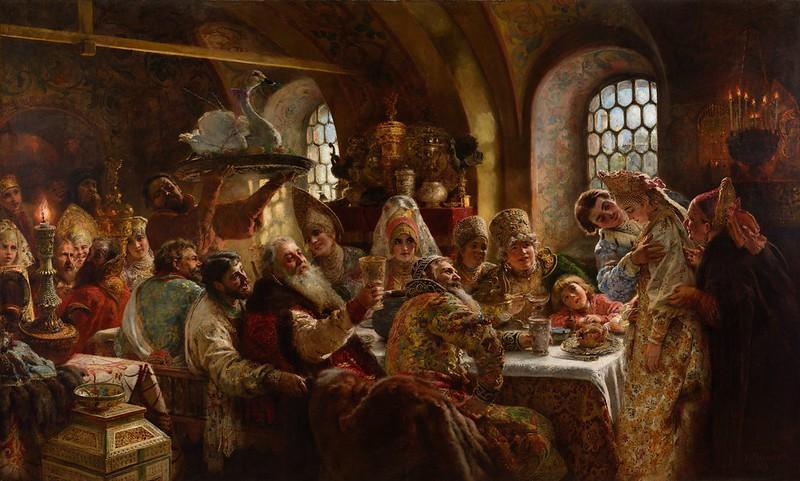 Konstantin Makovsky - A Boyar Wedding Feast (1883)